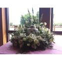 White Lilies Urn Wreath