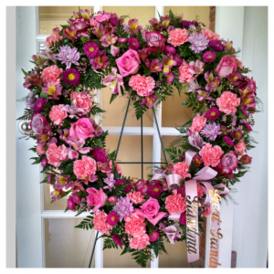 Floral Heart Wreath Tribute by Rosamungthorns Springfield MO 417-720-4004